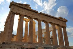 Parthenon temple, Acropolis, Athens, Greece Royalty Free Stock Photo