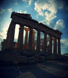 Parthenon temple on Acropolis, Athens, Greece Royalty Free Stock Photos