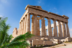 Parthenon temple in Acropolis, Athens, Greece Stock Image