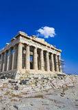 Parthenon temple in Acropolis at Athens, Greece Royalty Free Stock Photos