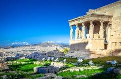 Parthenon temple on the Acropolis in Athense Stock Image