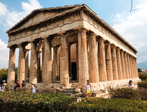 Parthenon temple on the Acropolis heritage of Athens royalty free stock images