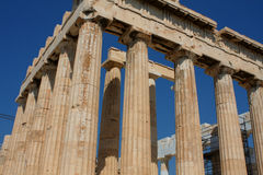 Parthenon temple in Acropolis Hill in Athens, Greece Stock Image