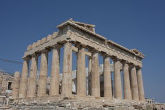 Parthenon temple in Acropolis Hill in Athens, Greece Royalty Free Stock Image