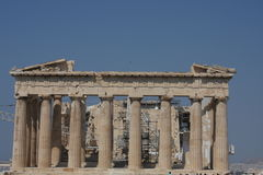 Parthenon temple in Acropolis Hill in Athens, Greece Royalty Free Stock Photo