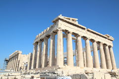 Parthenon, Temple of Athena, Greece, Athens. The Parthenon /ˈpɑːrθəˌnɒnˌ -nən/; Ancient Greek: Παρθενών royalty free stock photo