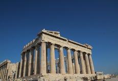 Parthenon, Temple of Athena, Greece, Athens. The Parthenon /ˈpɑːrθəˌnɒnˌ -nən/; Ancient Greek: Παρθενών stock images