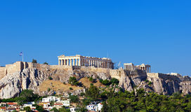 Parthenon temple on Athenian Acropolis Royalty Free Stock Image