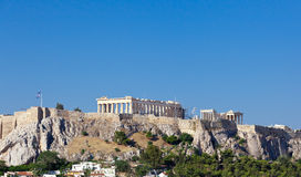 Parthenon temple on Athenian Acropolis Royalty Free Stock Photo