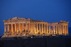 Parthenon, temple on the Athenian Acropolis, dedicated to the maiden goddess Athena Royalty Free Stock Photography