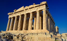 Parthenon , a temple on the Athenian Acropolis Stock Image