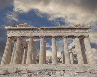 Parthenon temple on Athenian Acropolis, Greece Royalty Free Stock Photography