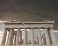 Parthenon temple on Athenian Acropolis, Greece Royalty Free Stock Photos