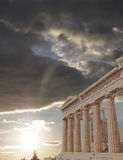 Parthenon temple on Athenian Acropolis, Greece Royalty Free Stock Images