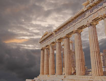 Parthenon temple on Athenian Acropolis, Greece Stock Images