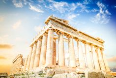 Parthenon Temple, Athens Royalty Free Stock Photography