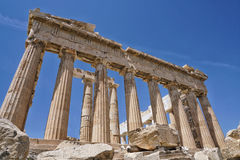 The Parthenon is a temple in Athens, Greece Royalty Free Stock Photo