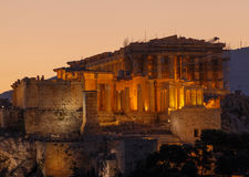 Parthenon temple. In Athens at sunrise Stock Photography