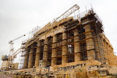 Maintenance of the Parthenon Temple Royalty Free Stock Photo