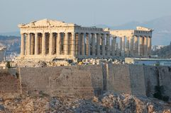 Parthenon temple in Greece,Athens Royalty Free Stock Photos