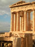 Parthenon Temple. The incredible Parthenon Temple in the city of Athens stock image