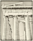 Parthenon temple with old film looking filter Royalty Free Stock Image