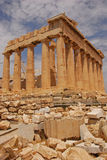 The Parthenon temple with Ruins Scattered around Stock Photography