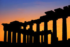Parthenon temple at sunset Royalty Free Stock Photo