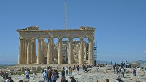 Parthenon temple time lapse stock footage