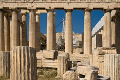 Parthenon under restoration Royalty Free Stock Image