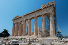 Parthenon under restoration, Acropolis, Greece Royalty Free Stock Photography
