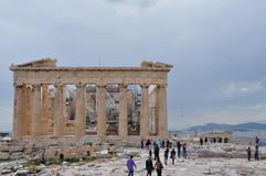 Parthenon under restoration Royalty Free Stock Photos