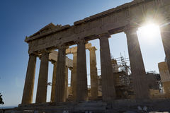 Parthenon w akropolu fotografia royalty free