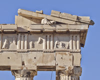 Parthenon west pediment detail, horse head Stock Photo