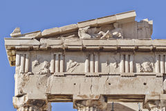 Parthenon west pediment, horse heads and Dionysus Stock Image