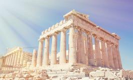 Parthenon widok Zdjęcie Royalty Free