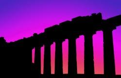 Parthenon zonsondergang-1 Stock Fotografie