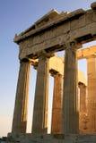 Parthenondetail an der Akropolise stockfotografie