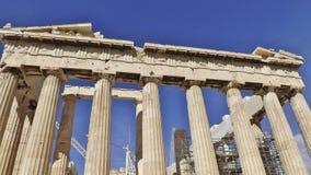 Parthenonen, akropol, Aten specificera Arkivbilder