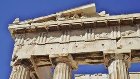 Parthenonen, akropol, Aten specificera Arkivfoto