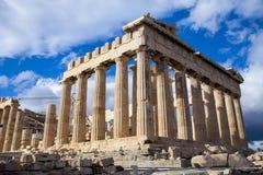Parthenonen, i Aten, Grekland Royaltyfri Foto