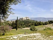 Parthenonen på akropolen i Aten Grekland royaltyfri bild
