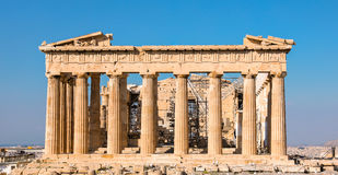 Parthenontempel, akropol i Aten, Grekland Royaltyfria Bilder