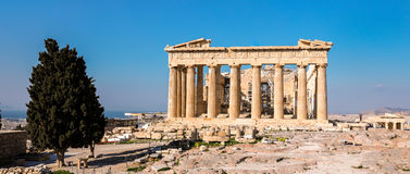 Parthenontempel, Akropolis in Athene, Griekenland stock foto's
