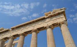 Parthenontempel in Akropolis in Athene, Griekenland op 16 Juni, 2017 Stock Foto's