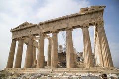 Parthenontempel in Athen lizenzfreie stockfotos