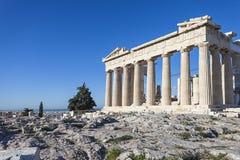 Parthenontempel i Acropolis Royaltyfri Fotografi