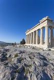 Parthenontempel i Acropolis Arkivbilder