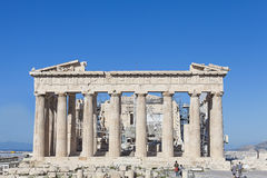 Parthenontempel i Acropolis Arkivbild