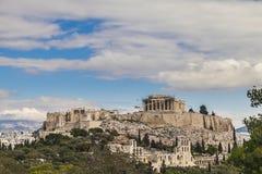 Parthenontempel i Acropolis Royaltyfri Foto